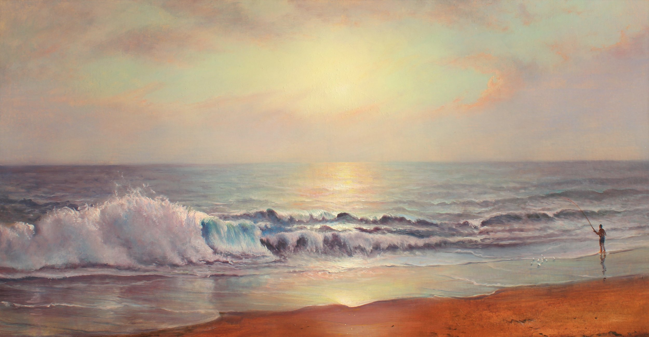 PETER ARGUIMBAU    The Wave    40 x 78 inches