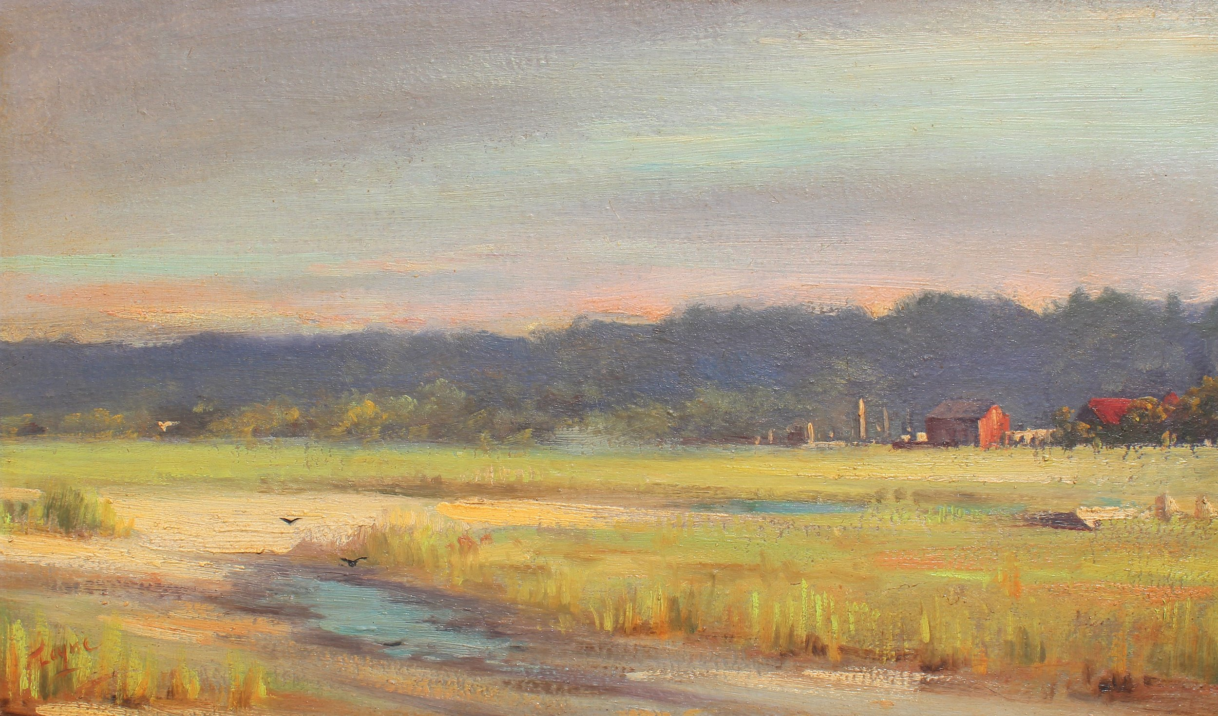PETER ARGUIMBAU    Skirting Meadow    11 x 19 inches