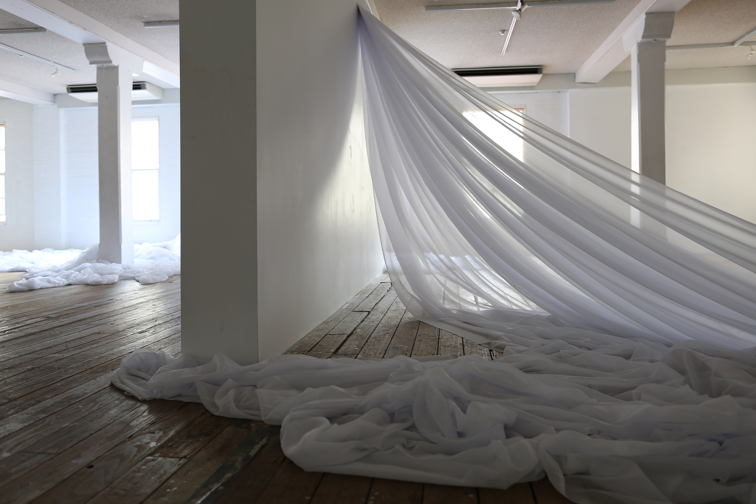 searching, 2014, Voile, Dimensions Variable.