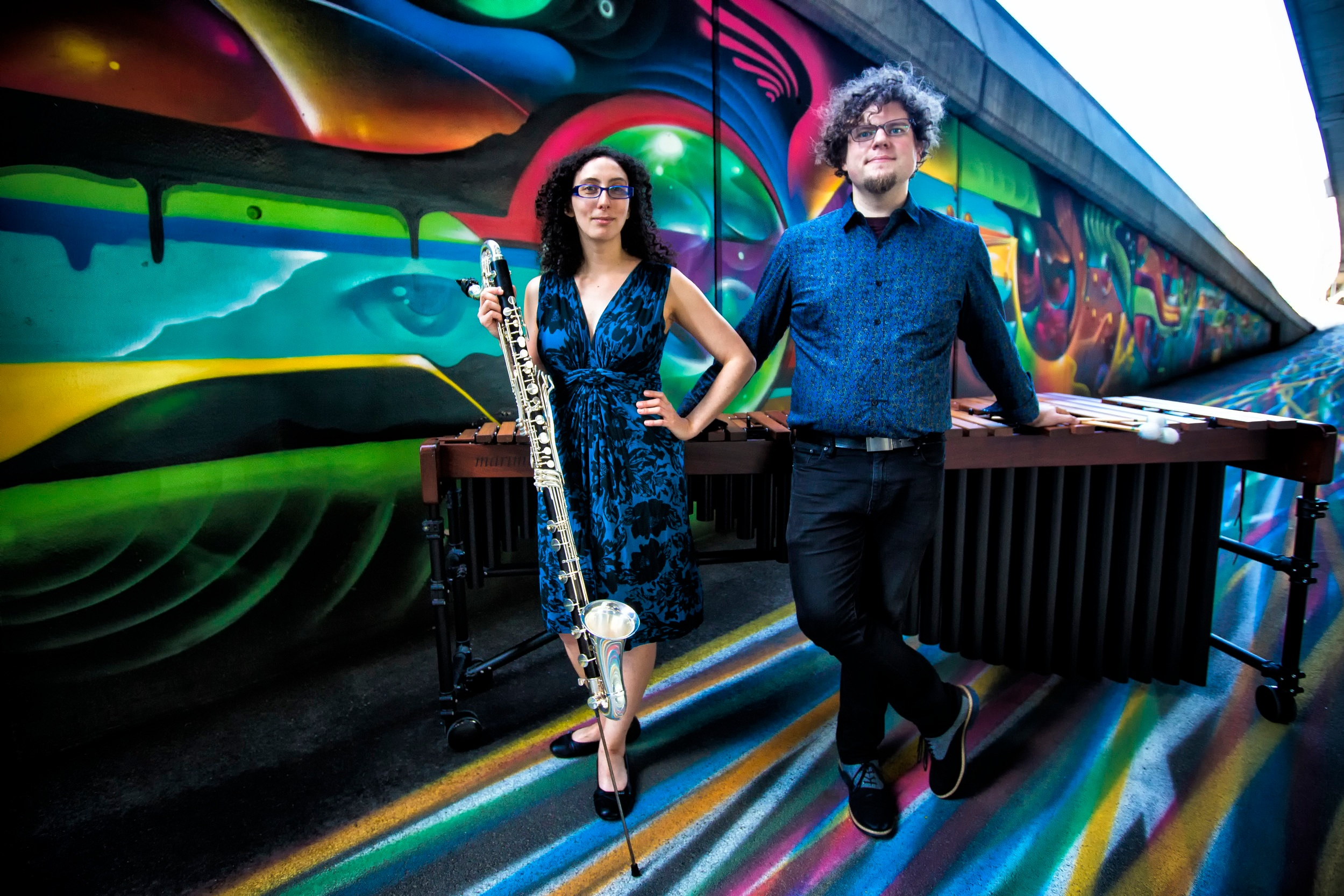 """TETRACTYS PRESENTS: Transient Canvas - The Tetractys Presents Residency features today's most exciting new music ensembles from across the nation. Our second ensemble in residence is the bass clarinet and marimba """"tour de force"""" Transient Canvas. We are PUMPED for this one!"""