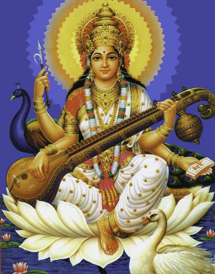 SARASVATI PUJA     Sarasvati is the Goddess of knowledge, wisdom, arts and learning. This  puja  is done to petition her blessings often to inaugurate the beginning of school and/or studies in general.