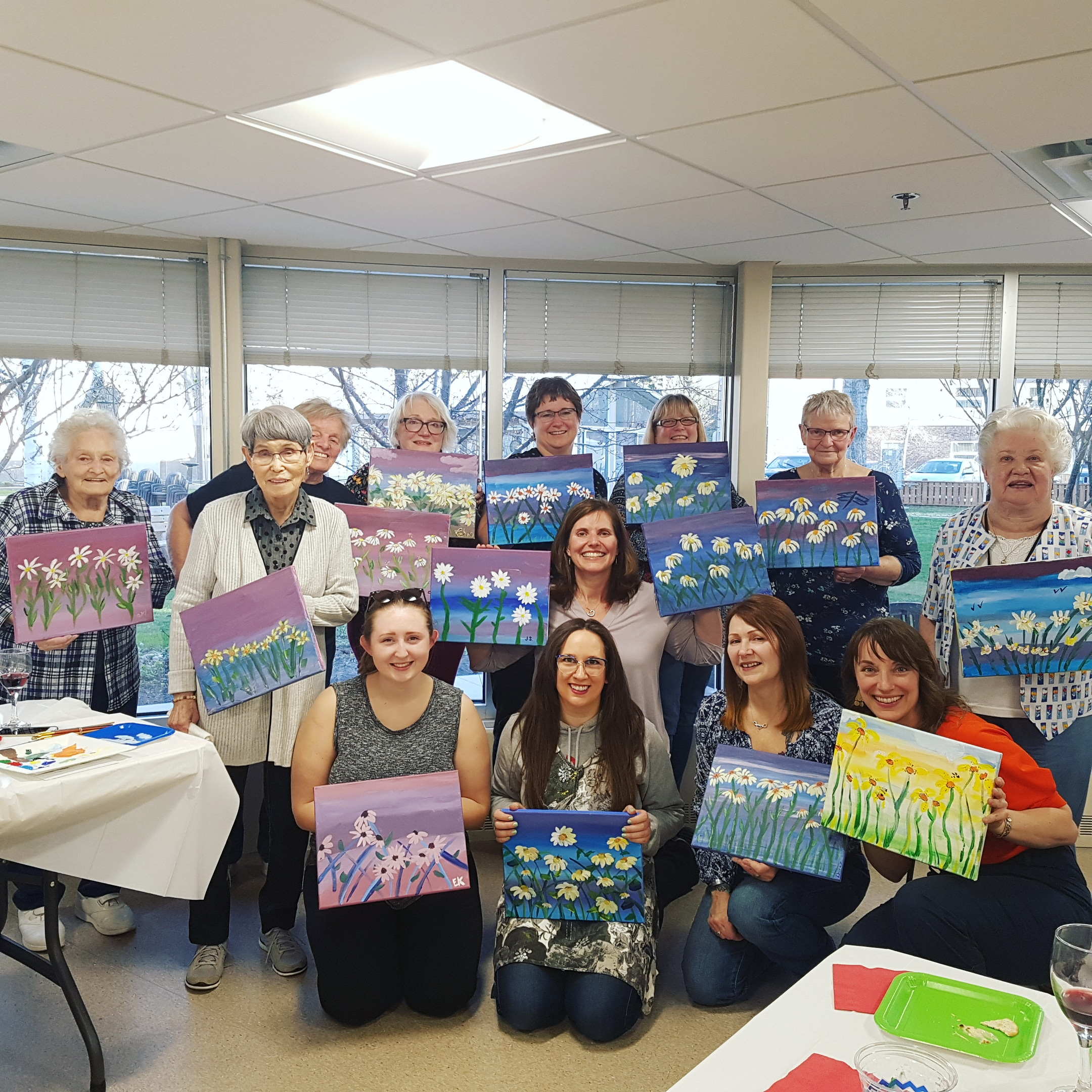 Mother's Day Painting Class for Seniors + Family!