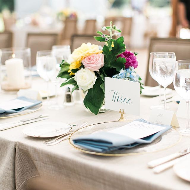 Classically Eastern Shore.  Photography: @bonniesenphotography Planning & Design: @kaririderevents Florals: @amaryllisinc  Day-of Paper: @surceecalligraphy