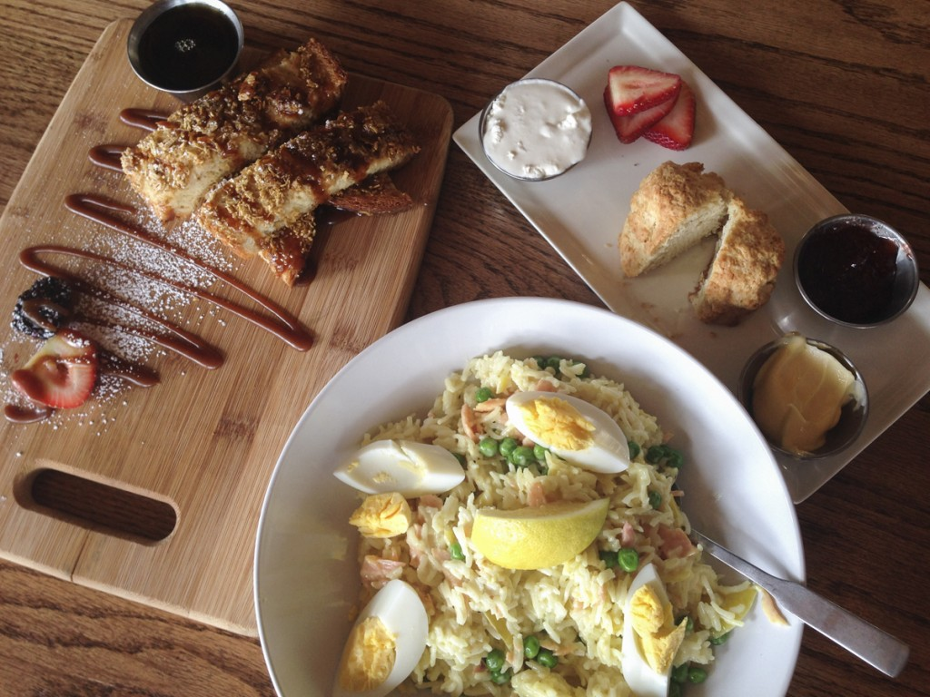French Toast, Kedgeree & Scone