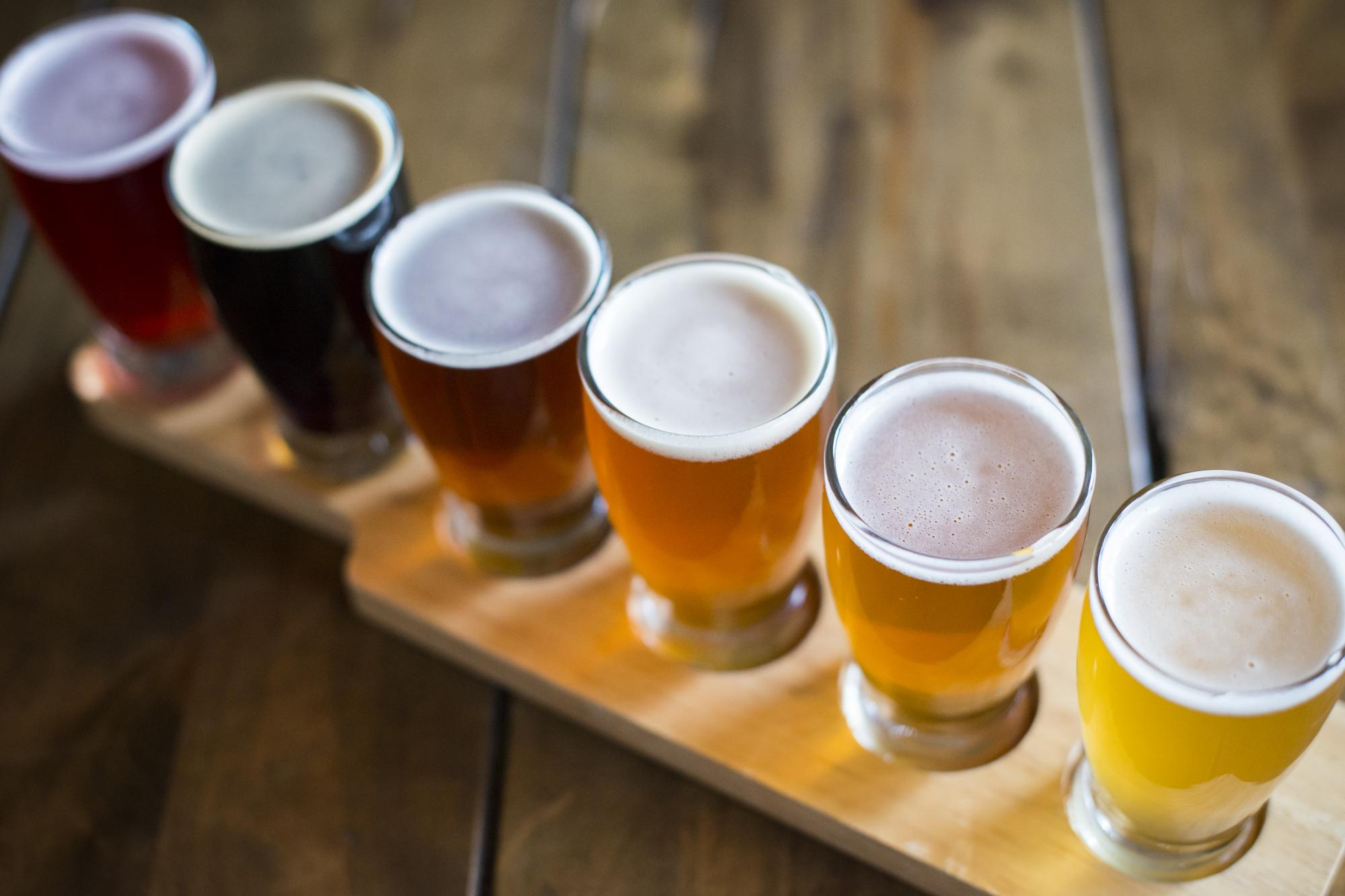 Flight of House Brewed Beers