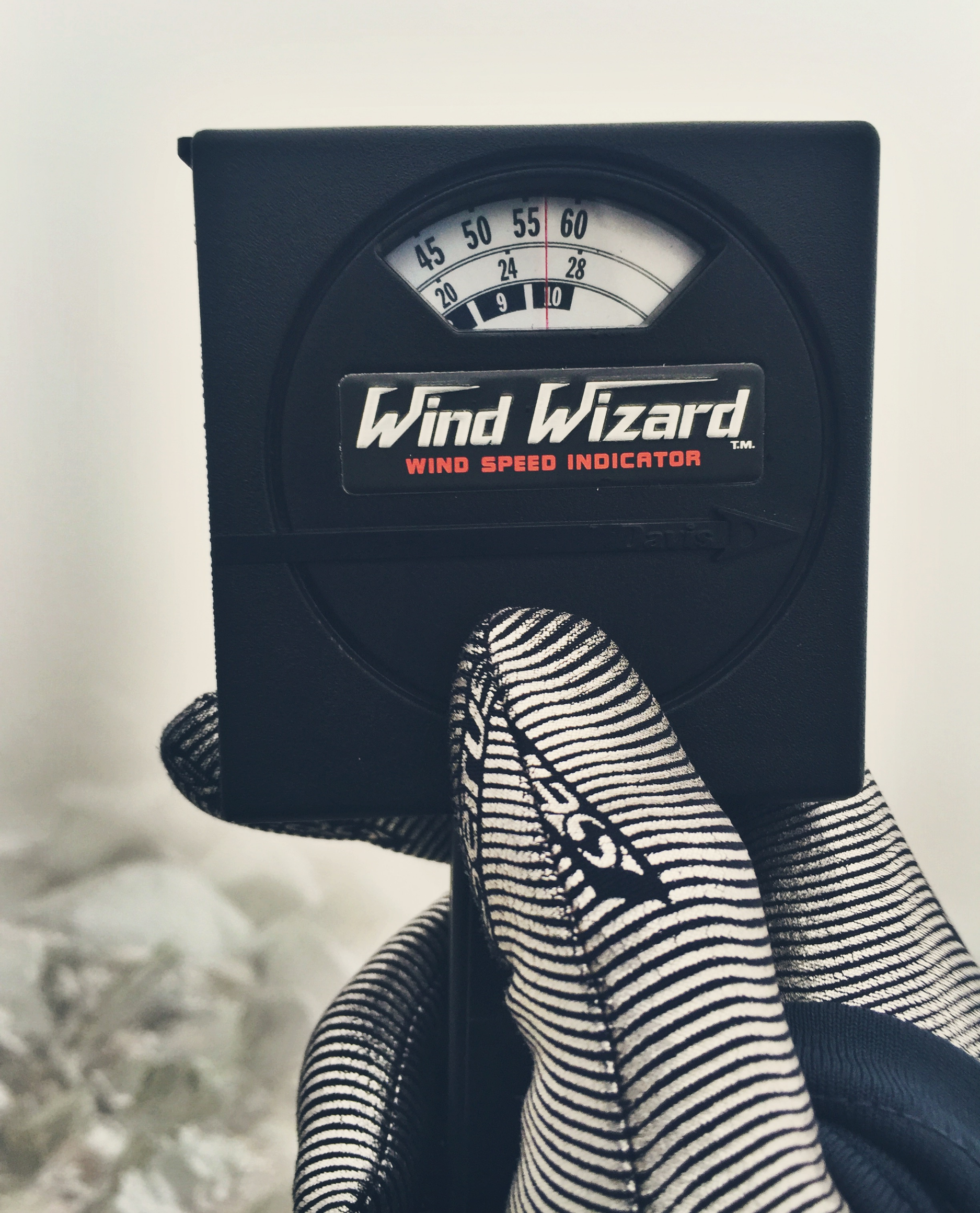 The winds a top the Knife Edge frequently maxed out the Wind Wizard's™ top reading of 60mph.