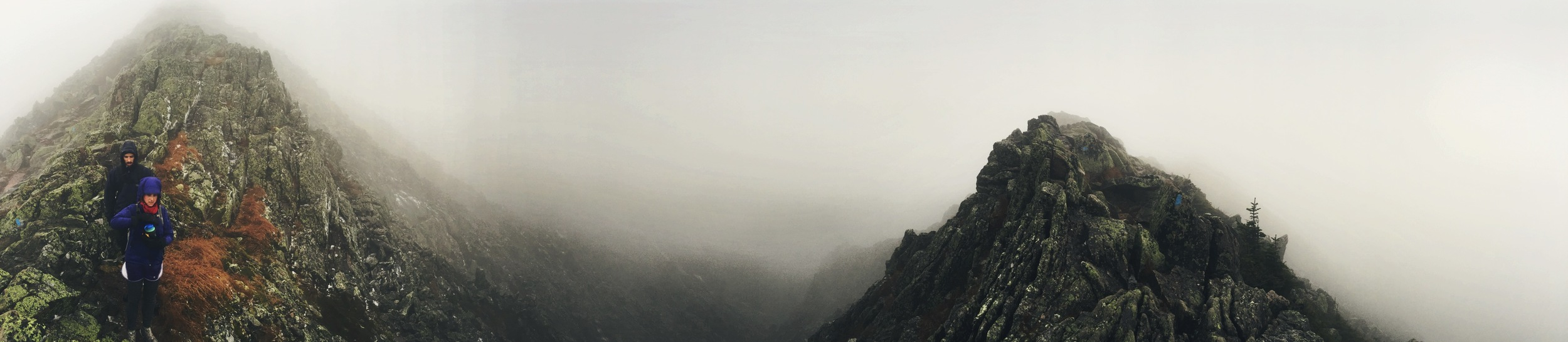 Alpine and Twirls, panoramic view of the Knife Edge