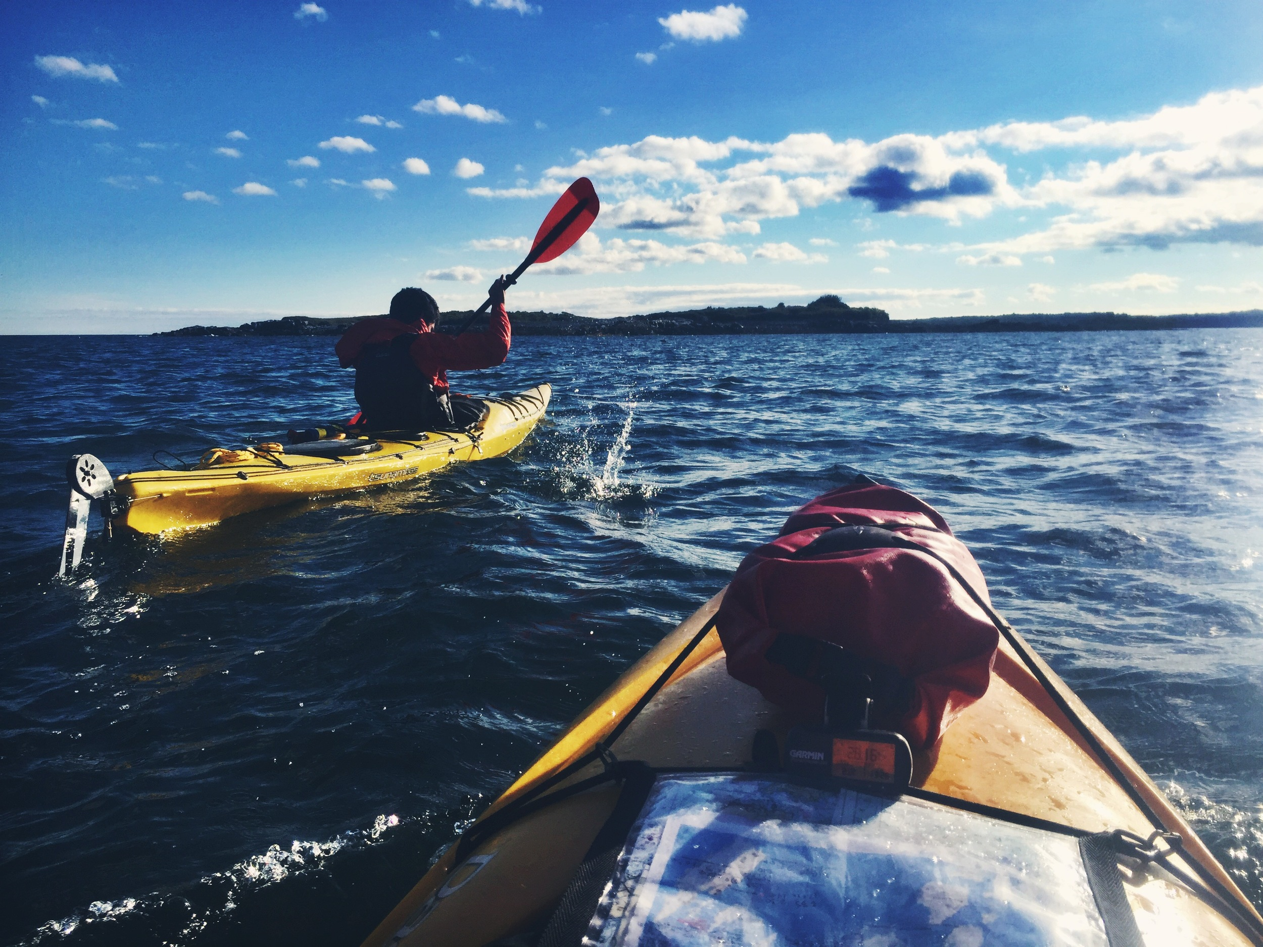 Zig-zagging island to island in Casco Bay