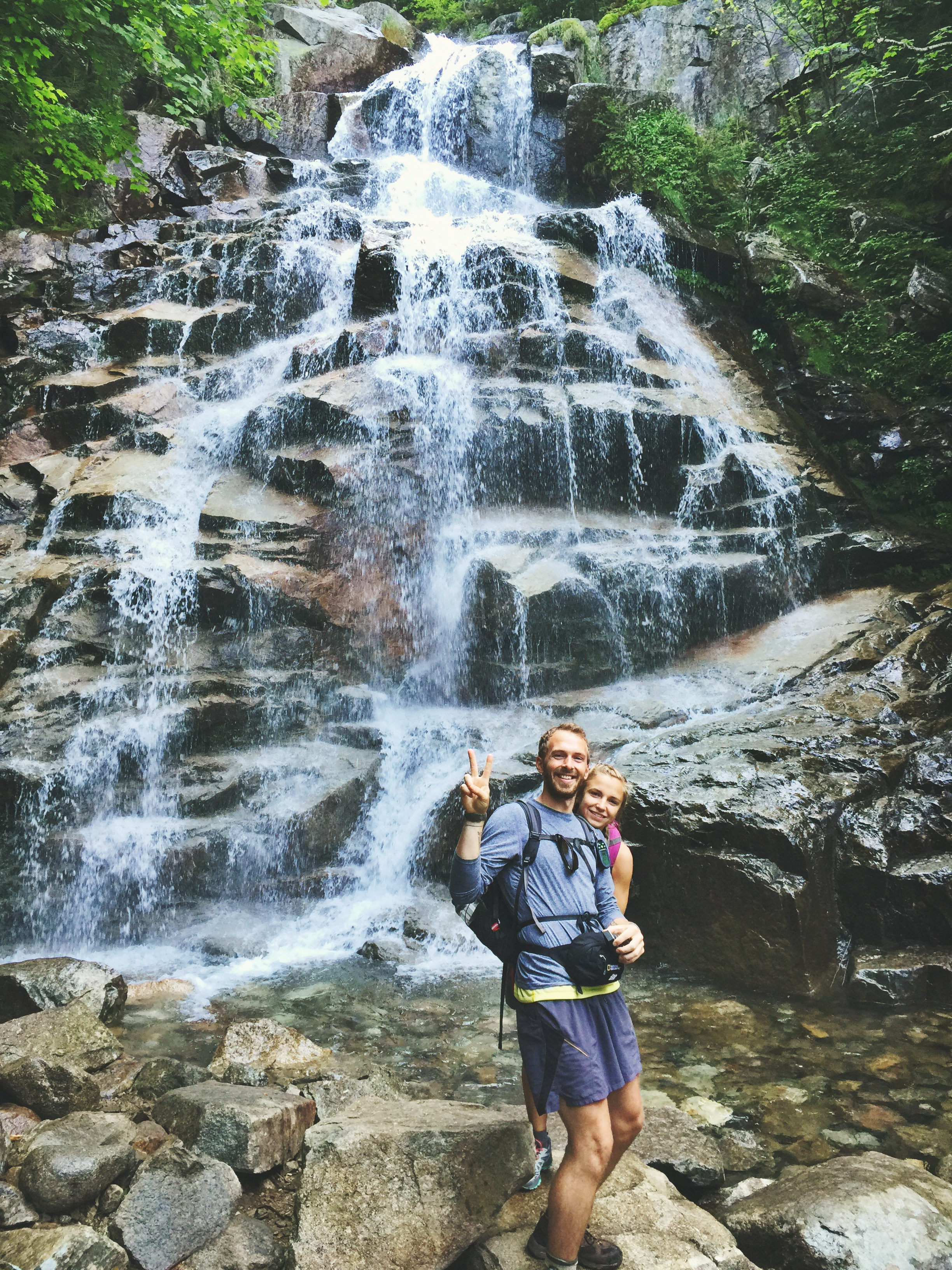 It quickly becomes apparent why it's called the Falling Waters Trail.