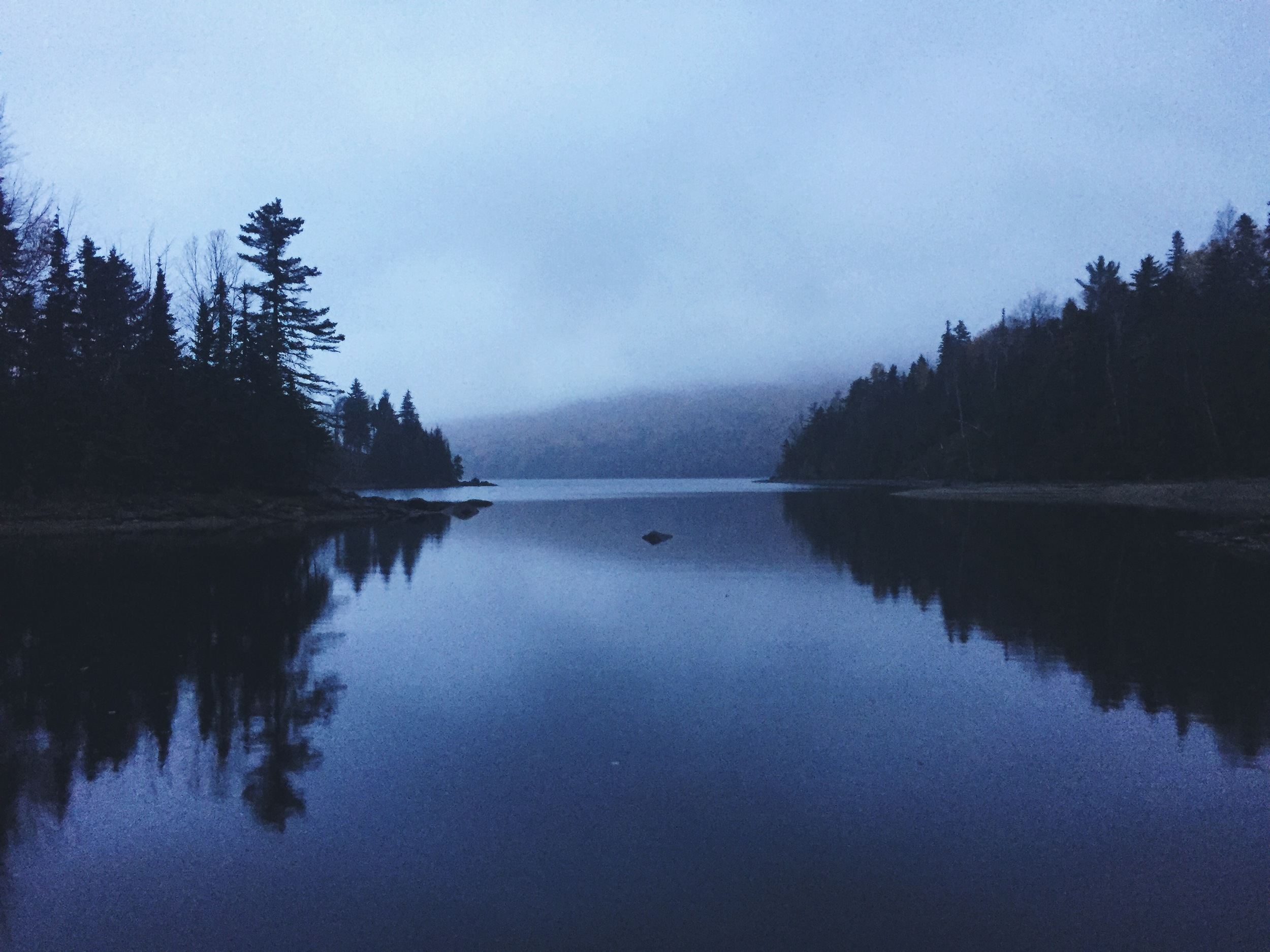 Early morning on the south-eastern most point of Flagstaff Lake.