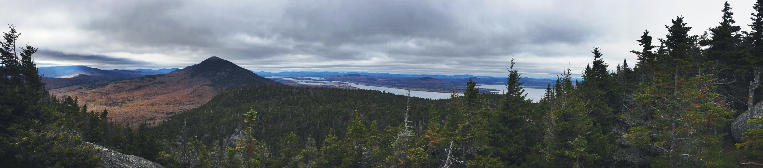 Panorama of the range from the end of Little Bigelow.