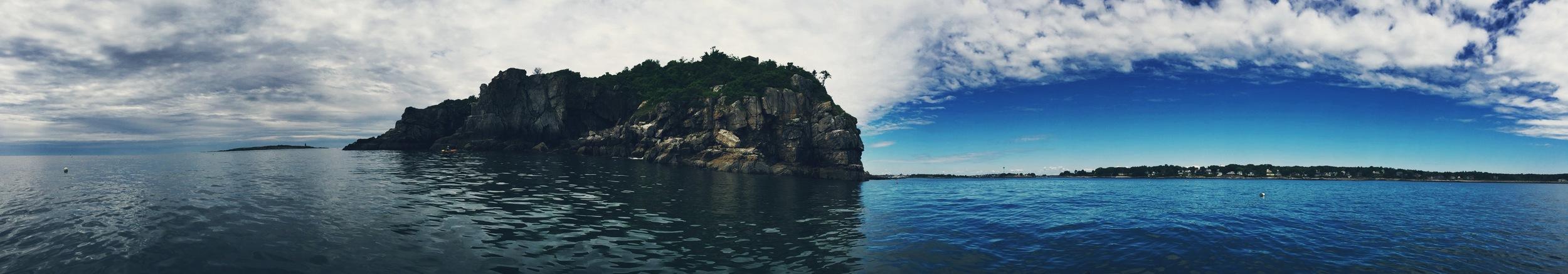 The jagged north east corner of Cushing Island
