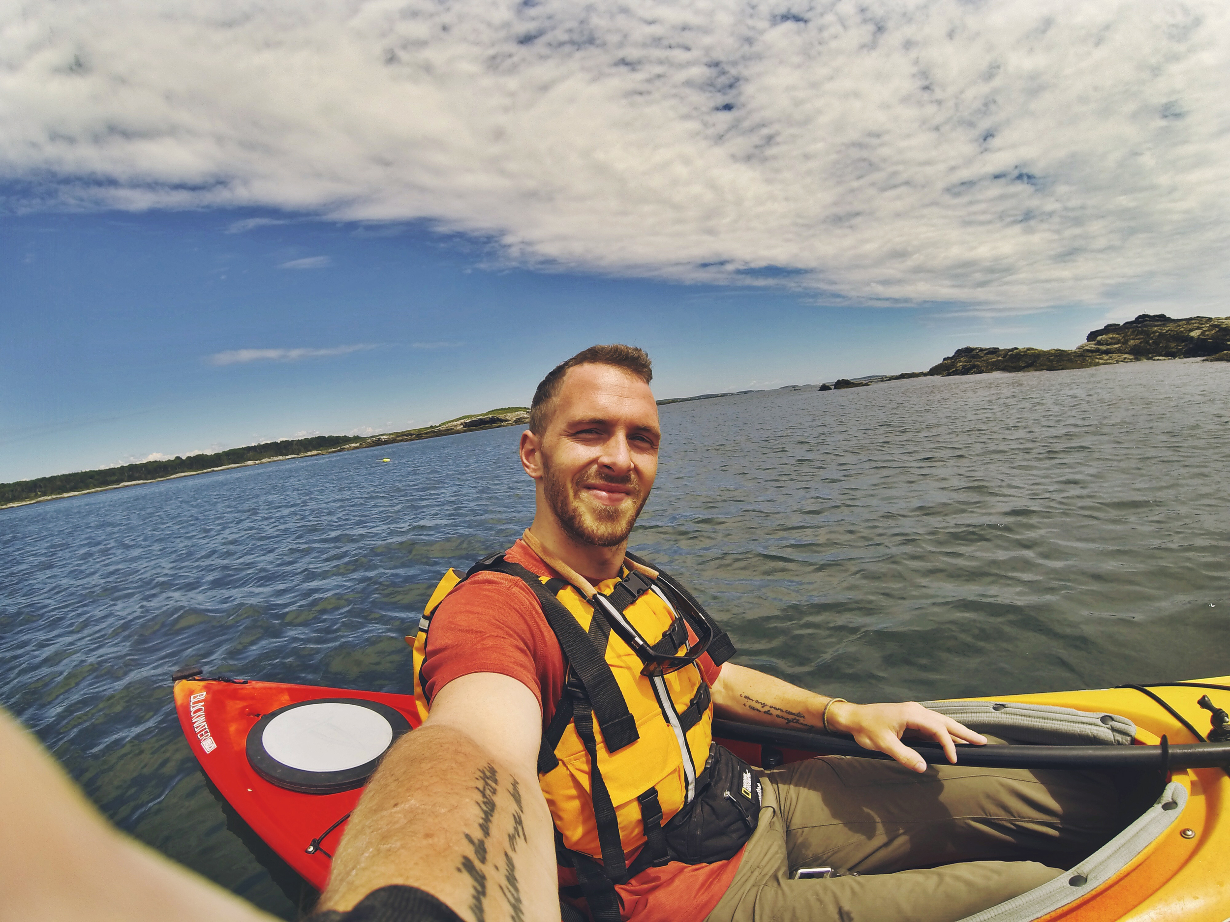 Couldn't ask for a more perfect day to sea kayak!