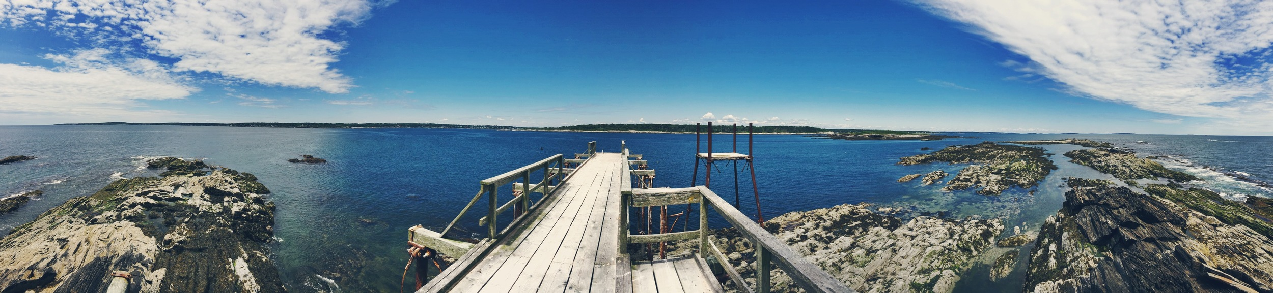 Panoramic view from the lighthouse bridge.