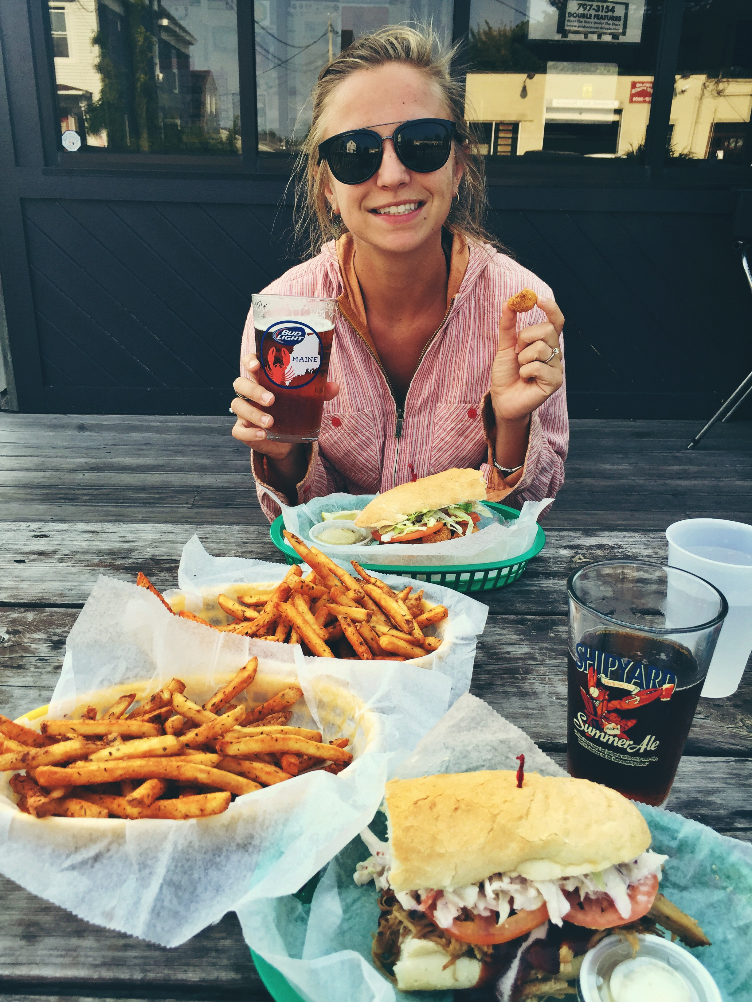 Po' Boys & Pickles! A great way to finish any adventure!