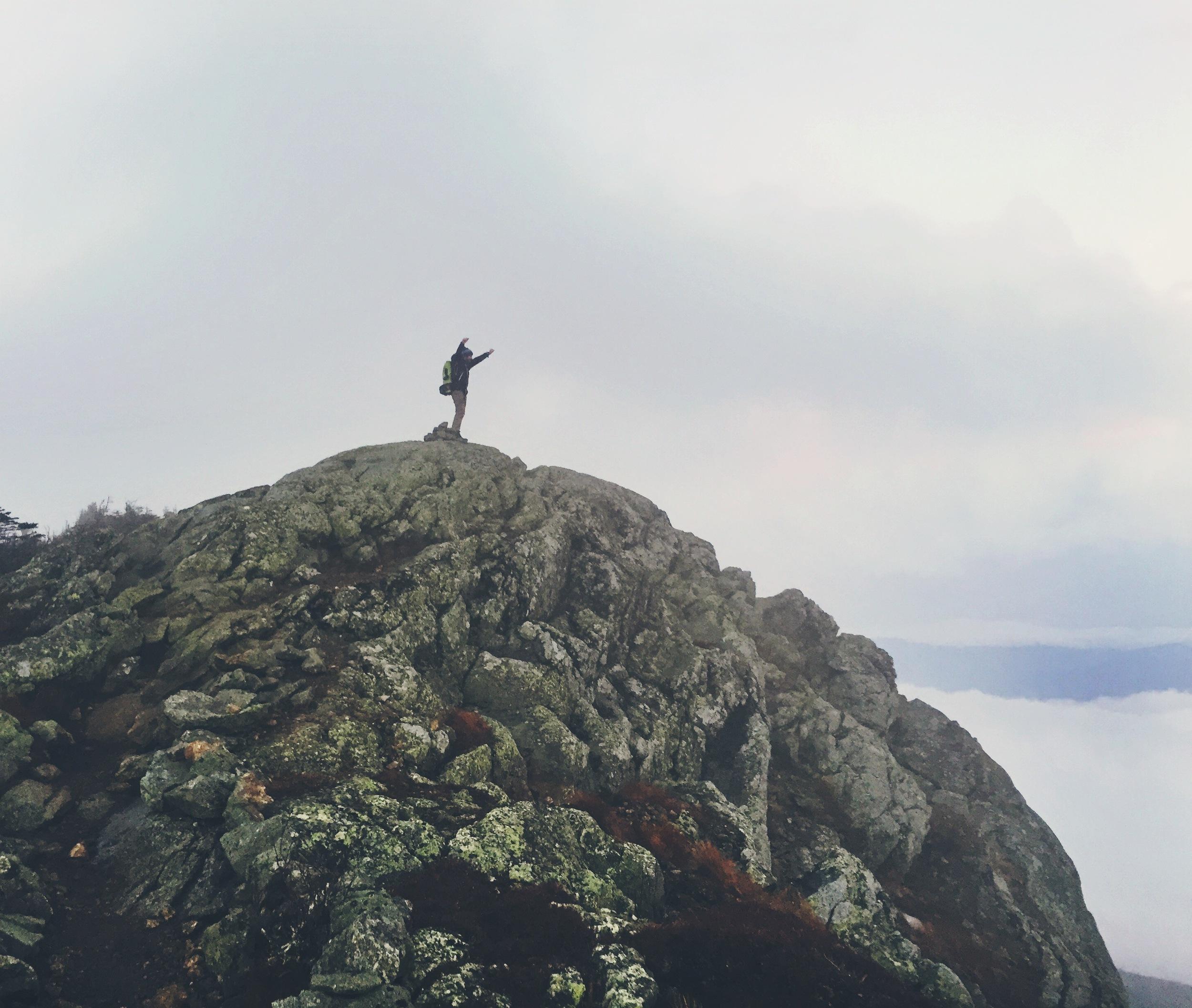 On top of West Peak.