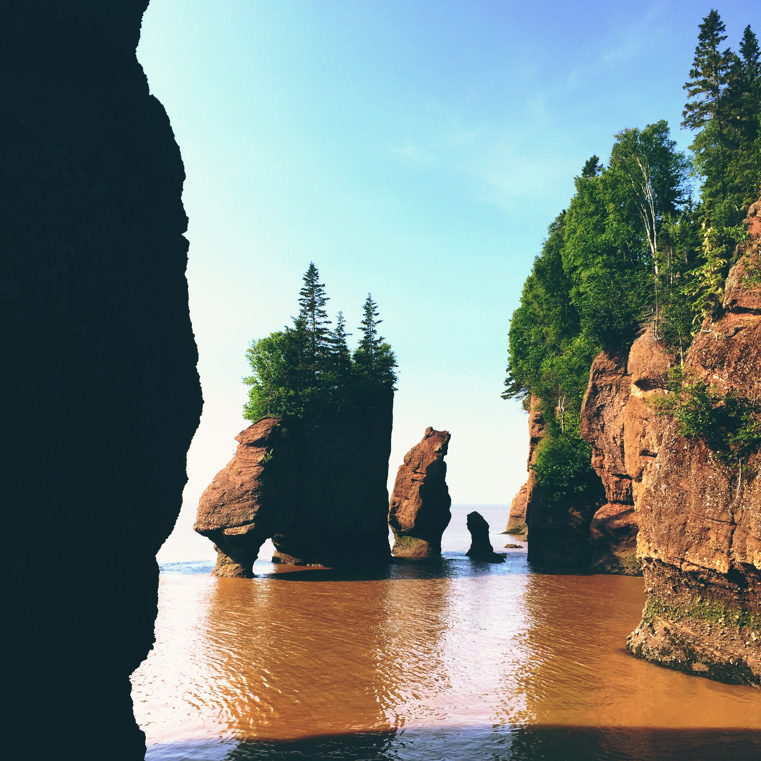Amazing Hopewell Rocks in the Bay of Fundy.