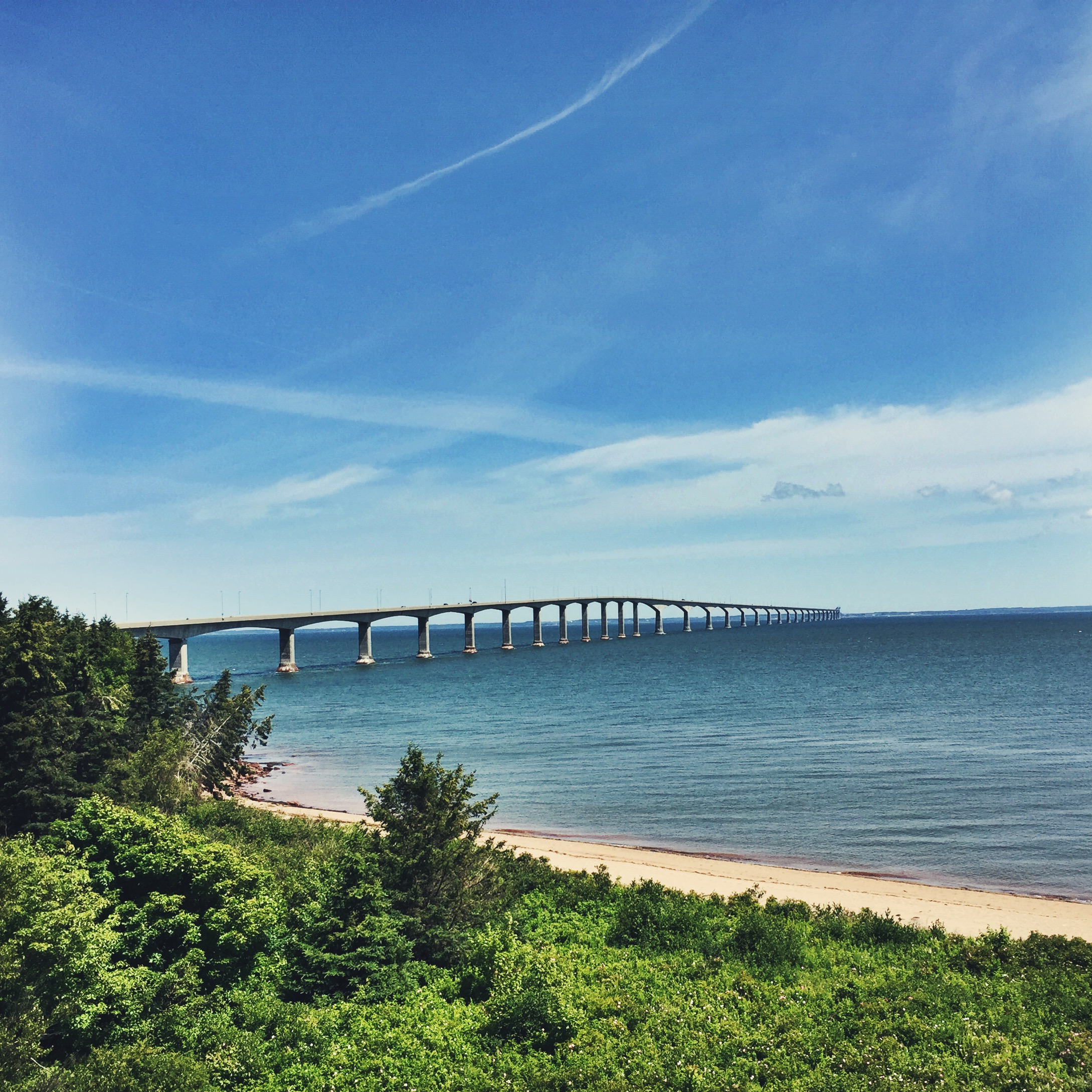 Teton will paddle to Prince Edward Island some day. The Confederation Bridge.