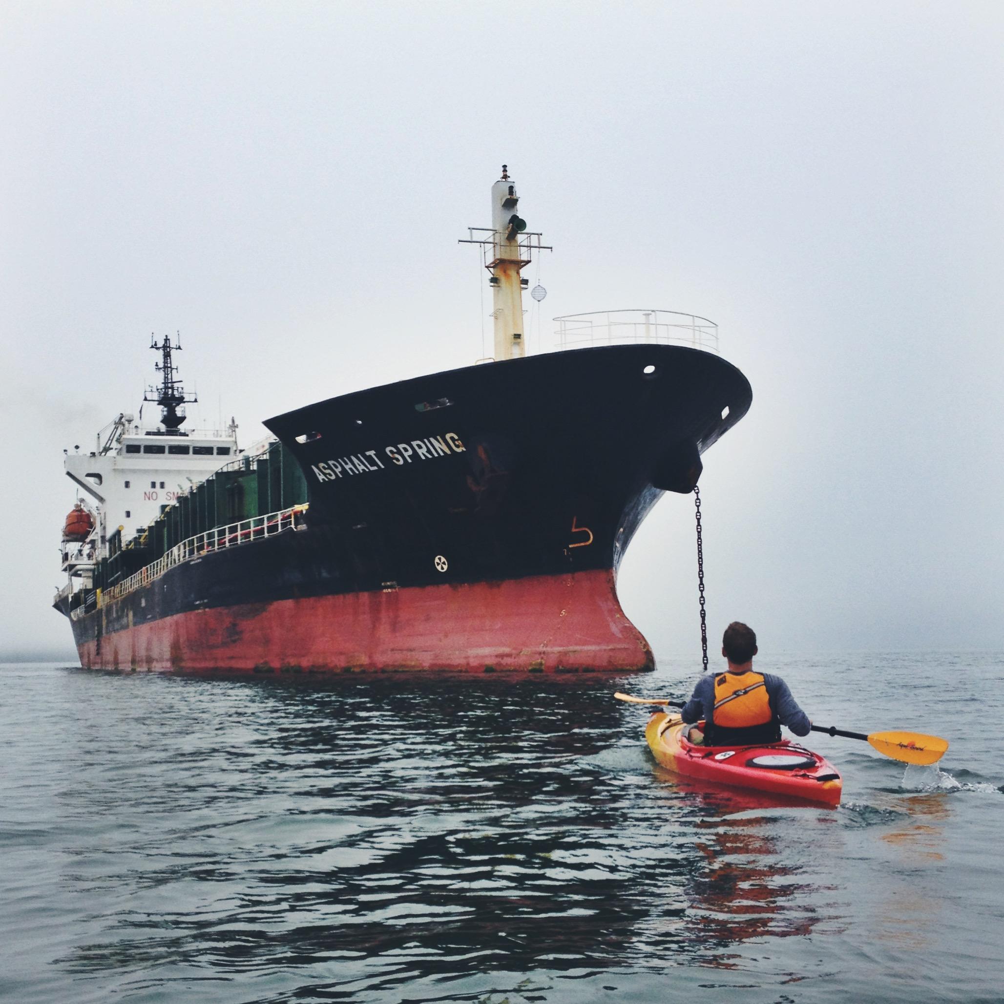 Teton and the tanker.