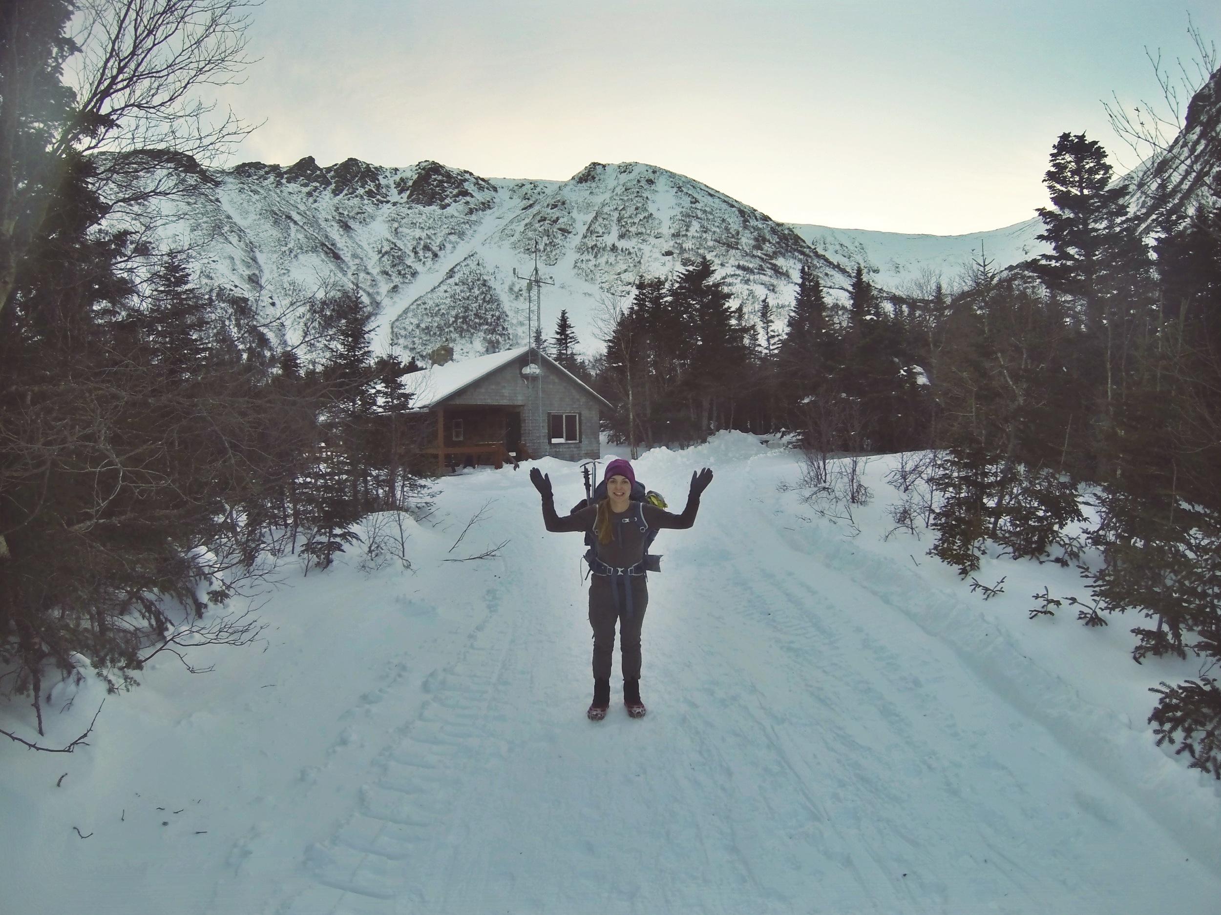 Moose at the Hermit Lake Shelter.