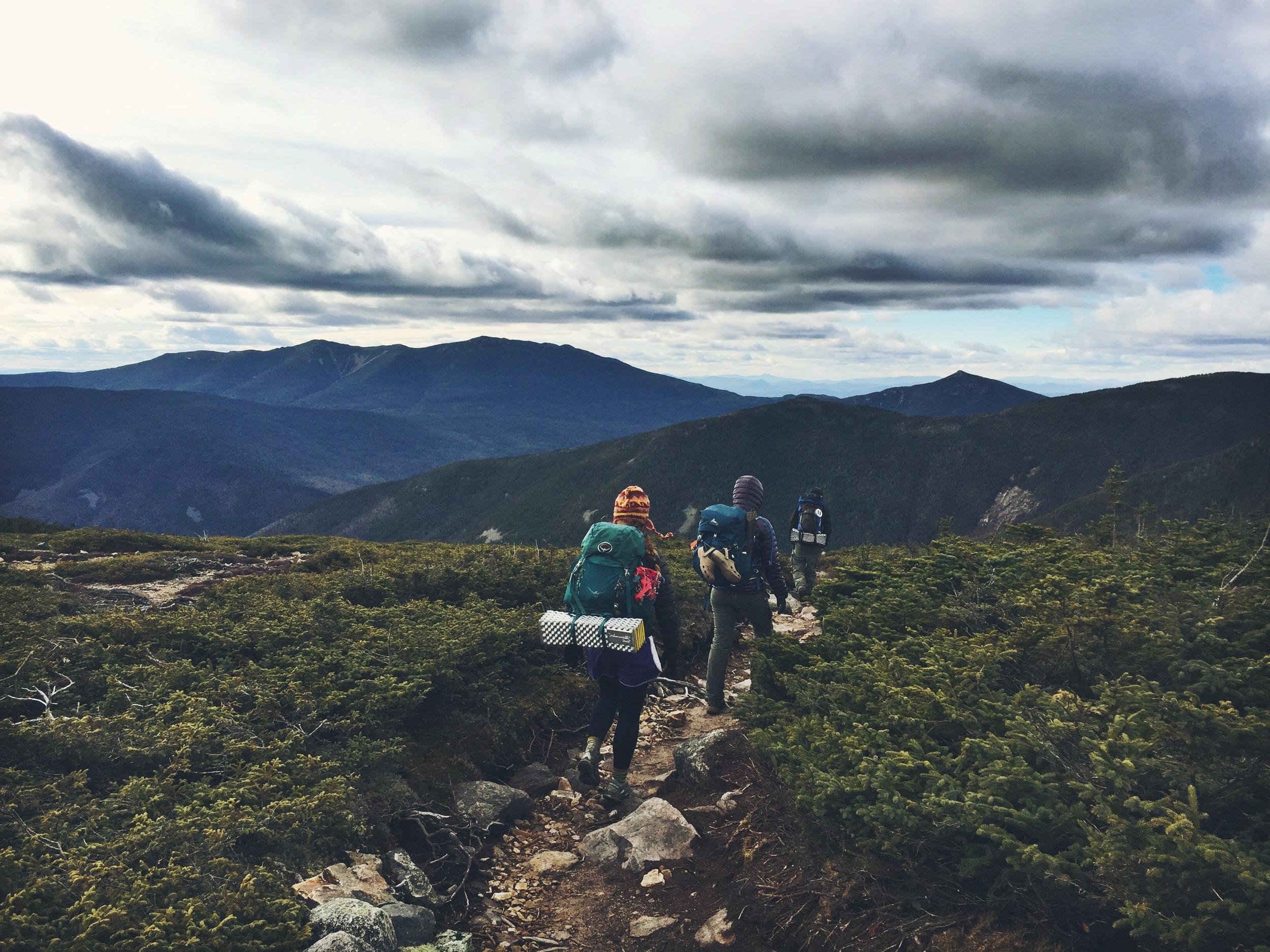 Beautiful scenery everywhere you look! Trekking in the Pemigewassett Wilderness of the White Mountains.