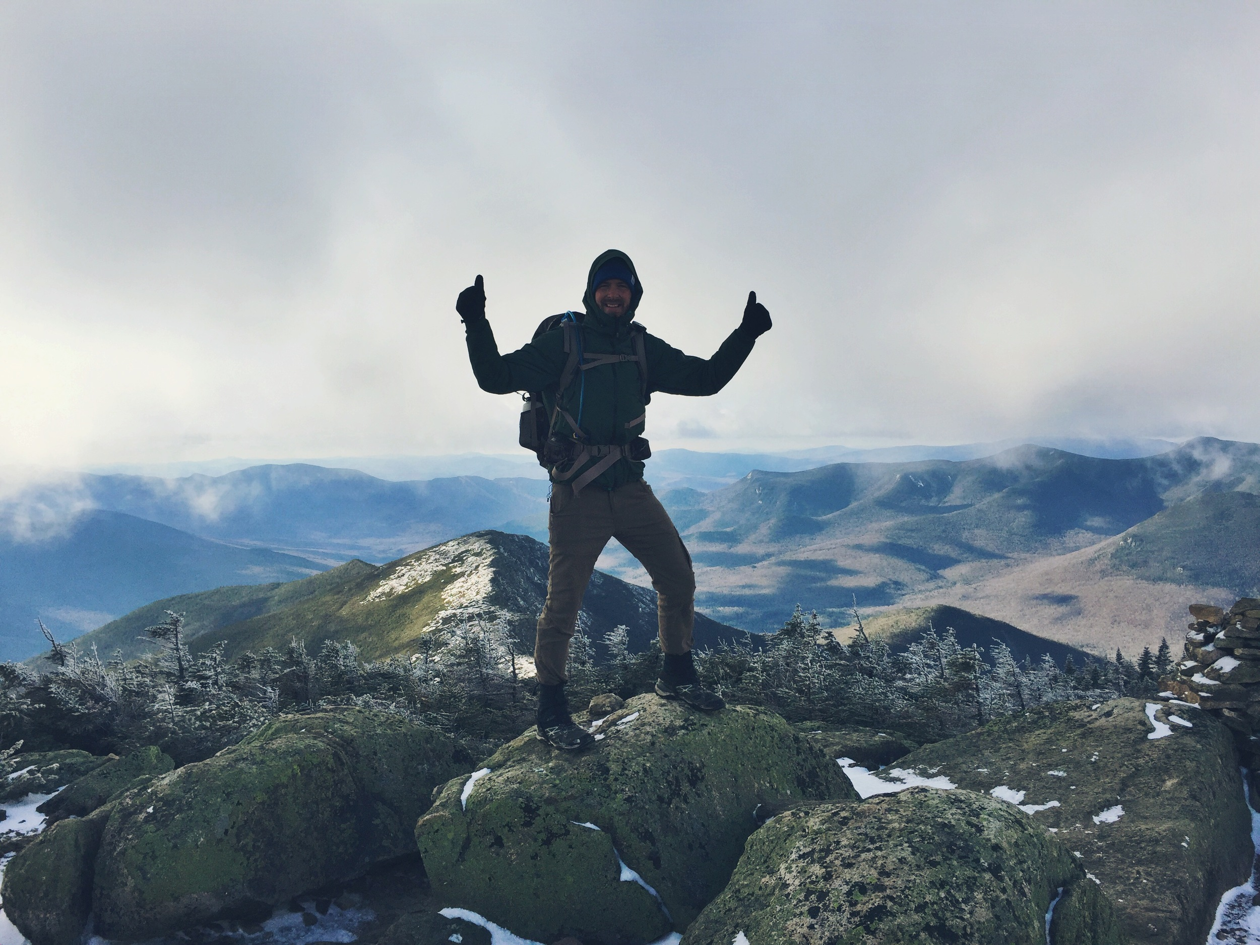 Teton at the top of Mt. Bond, the Bondcliffs sit below him in the distance.
