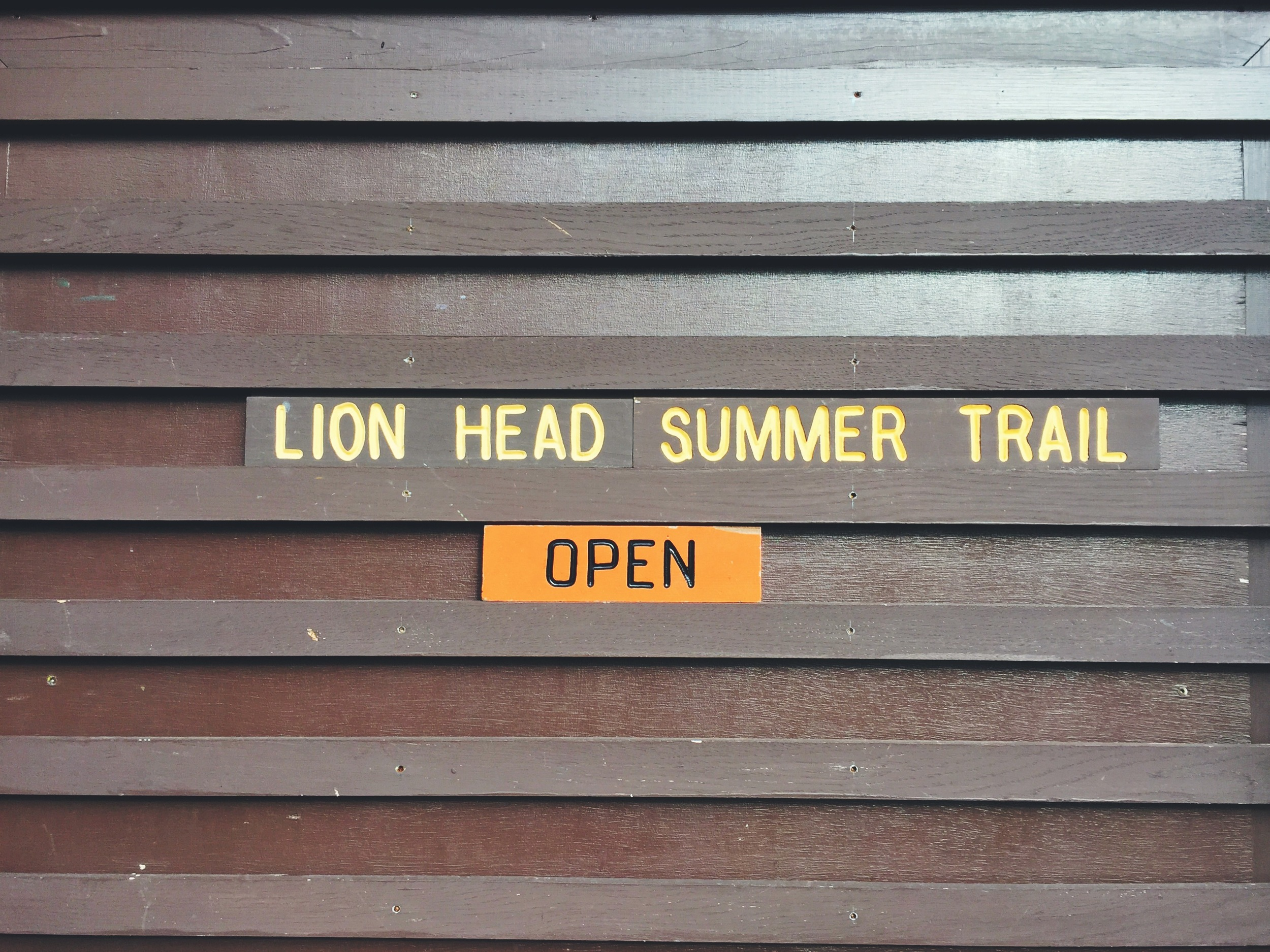 Due to the lack of snow fall, the summer trail was still open.