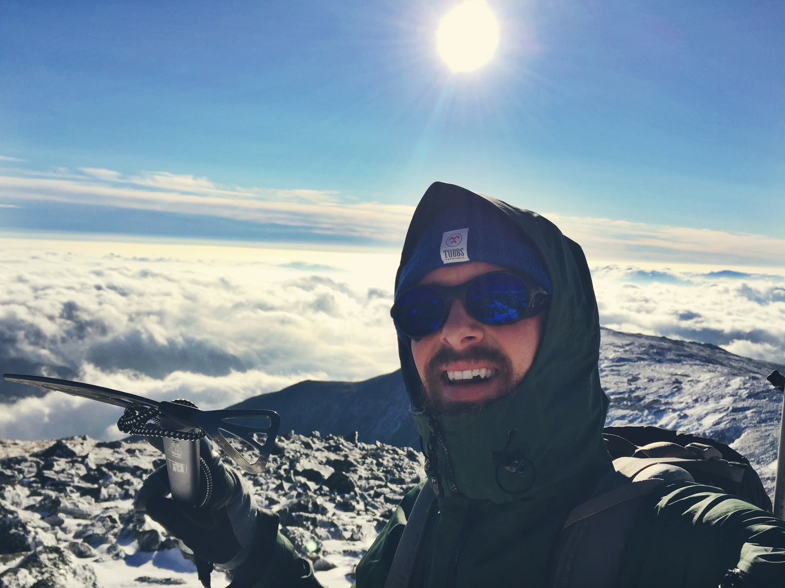 Happy to be above the clouds