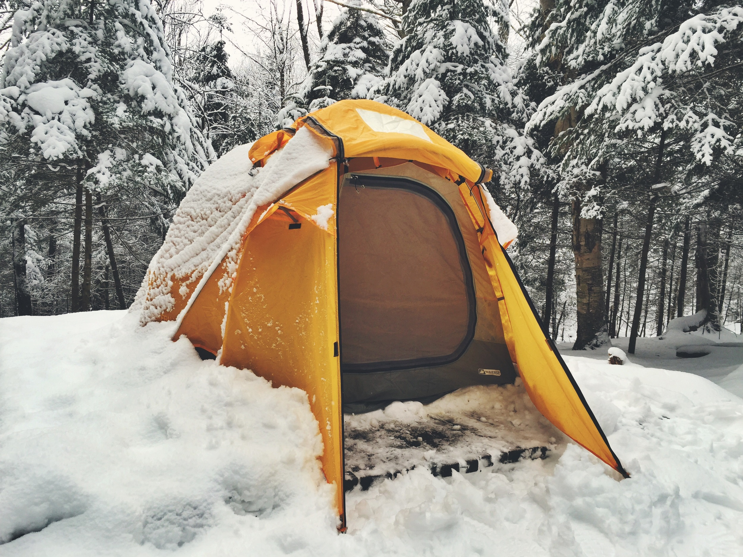 Our beautiful four season EMS Traverse tent