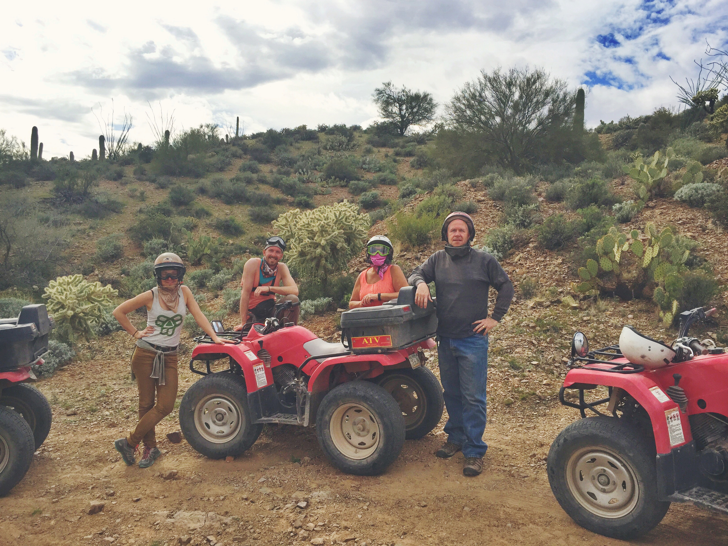 A great day spent adventuring via ATV through Box Canyon - getting dirty in the desert