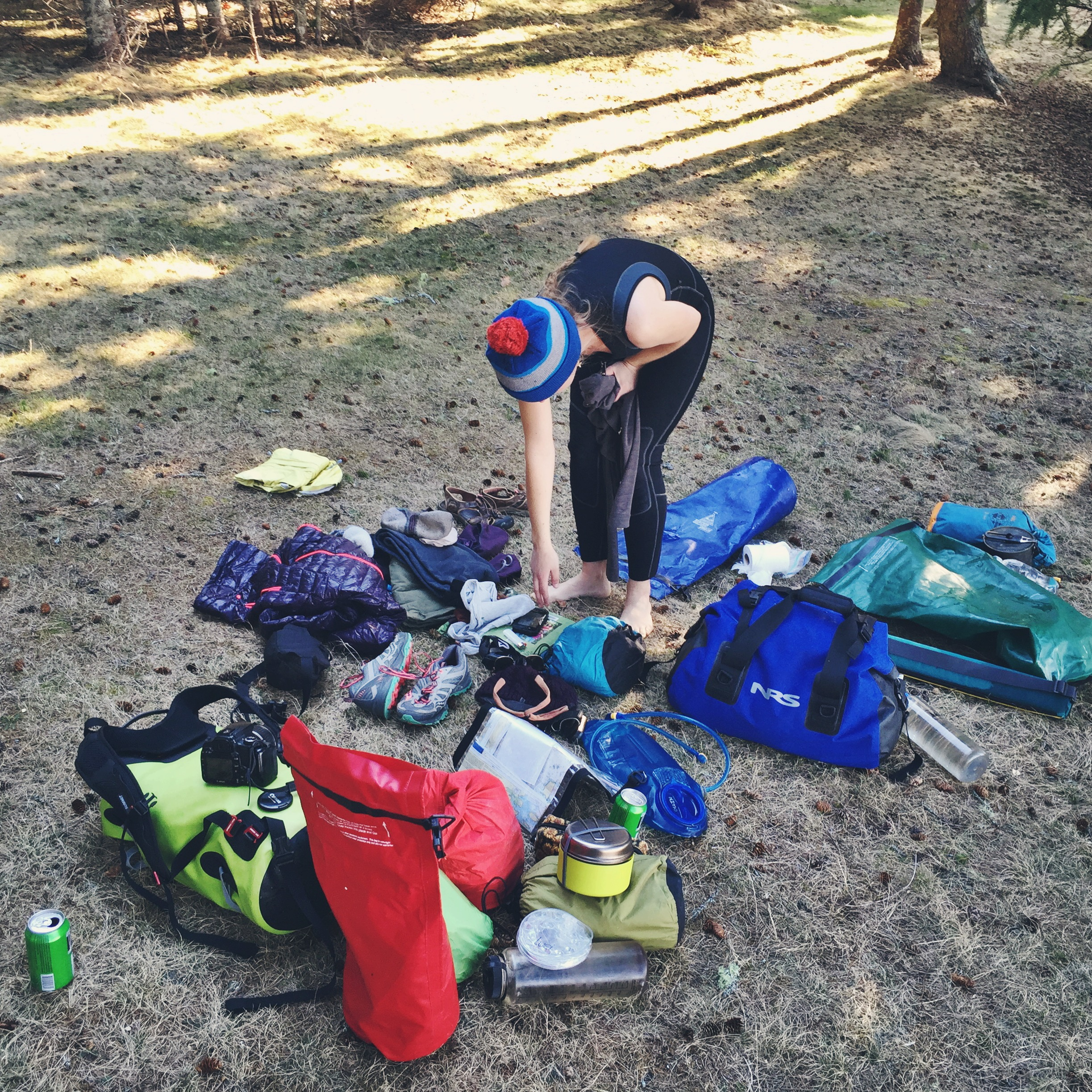 With boats unloaded, gear exploded, it's time to make camp!