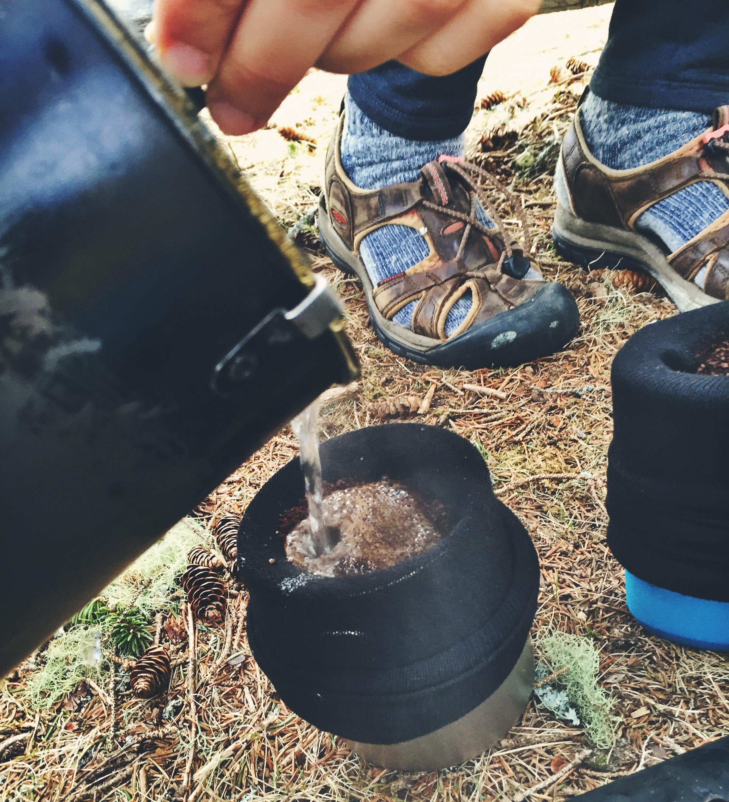 Nothing like improvised sock-coffee