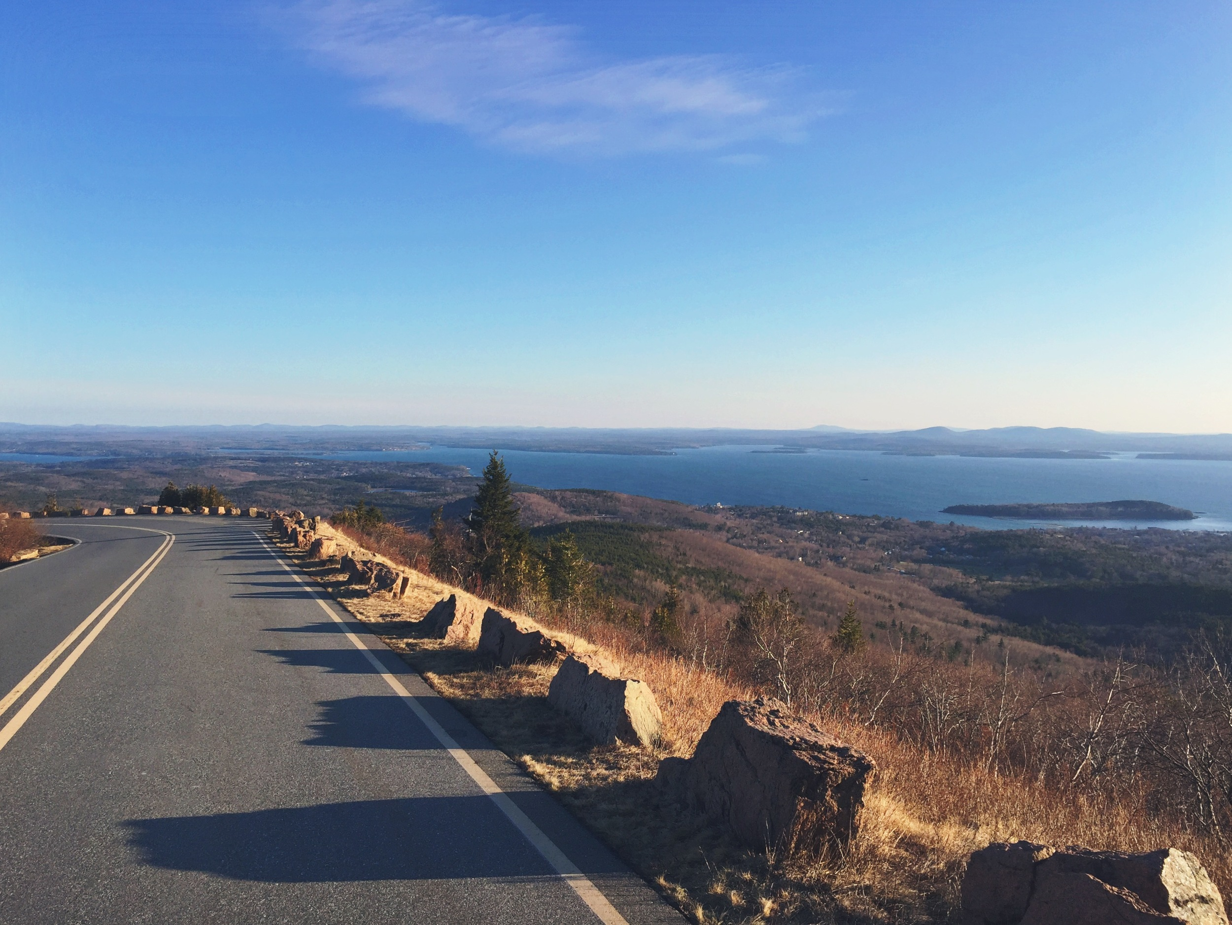 A gorgeous drive back down Cadillac Mountain