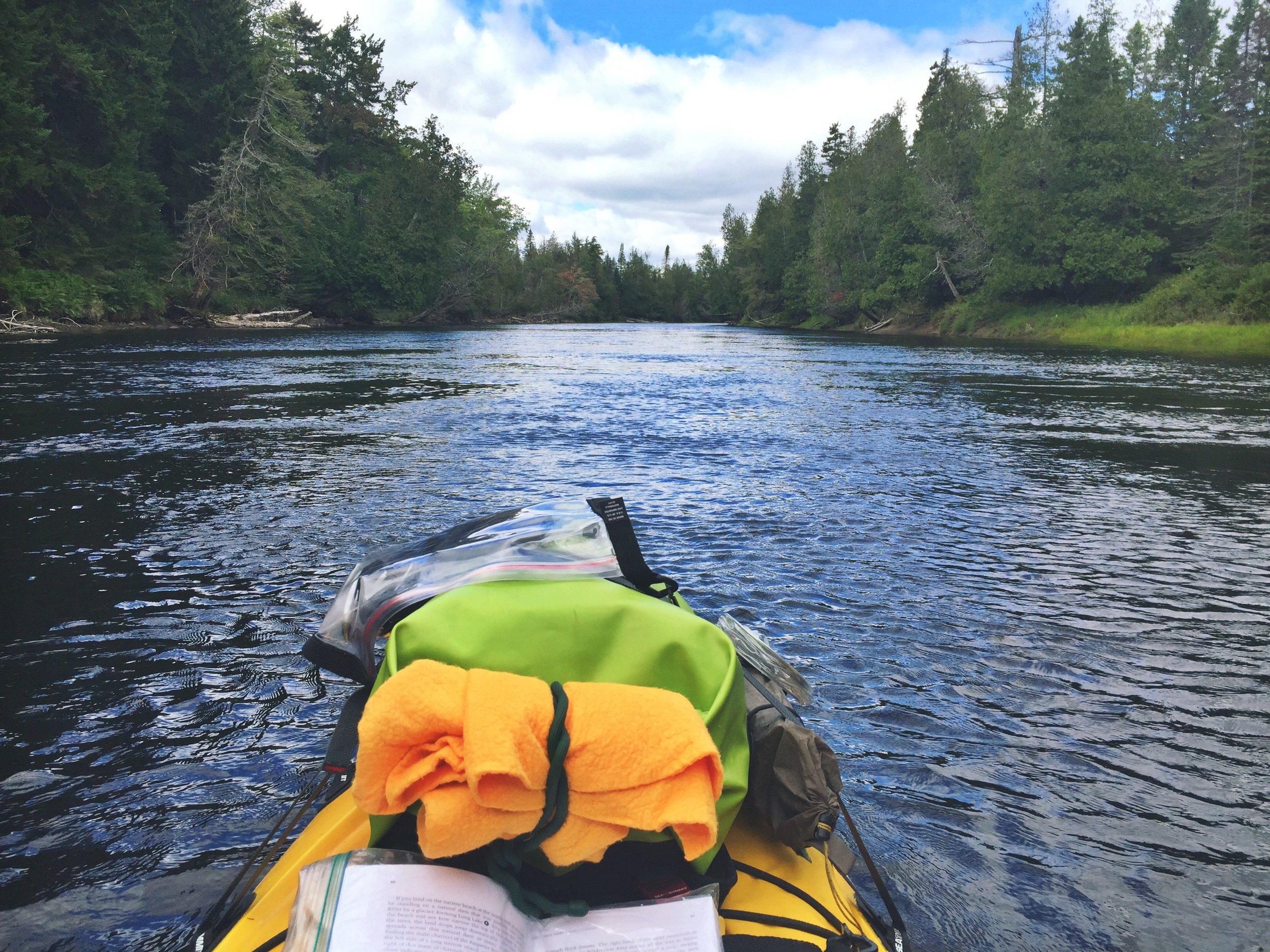 Headed down the Raquette River