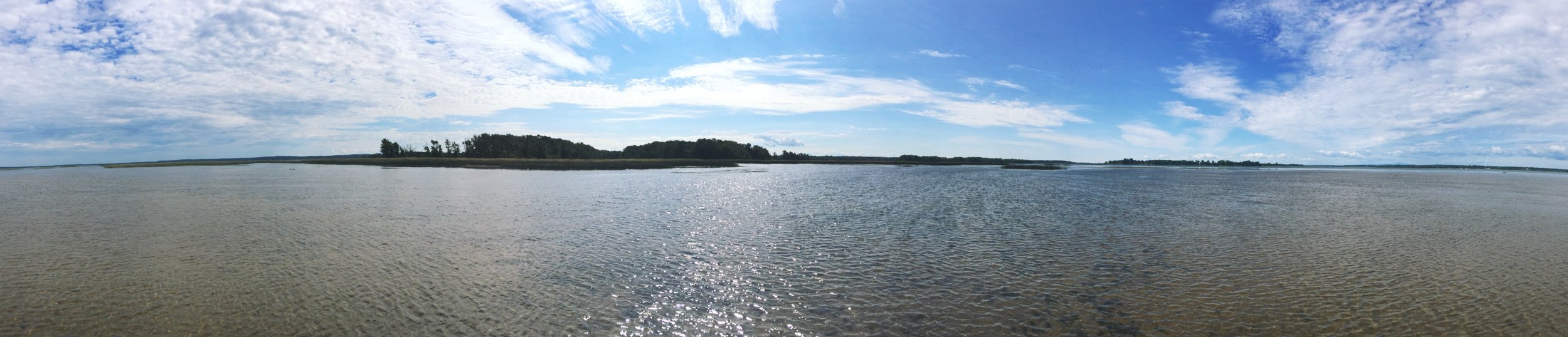 Long Marsh Bay and the entrance to the Missisquoi National Wildlife Refuge