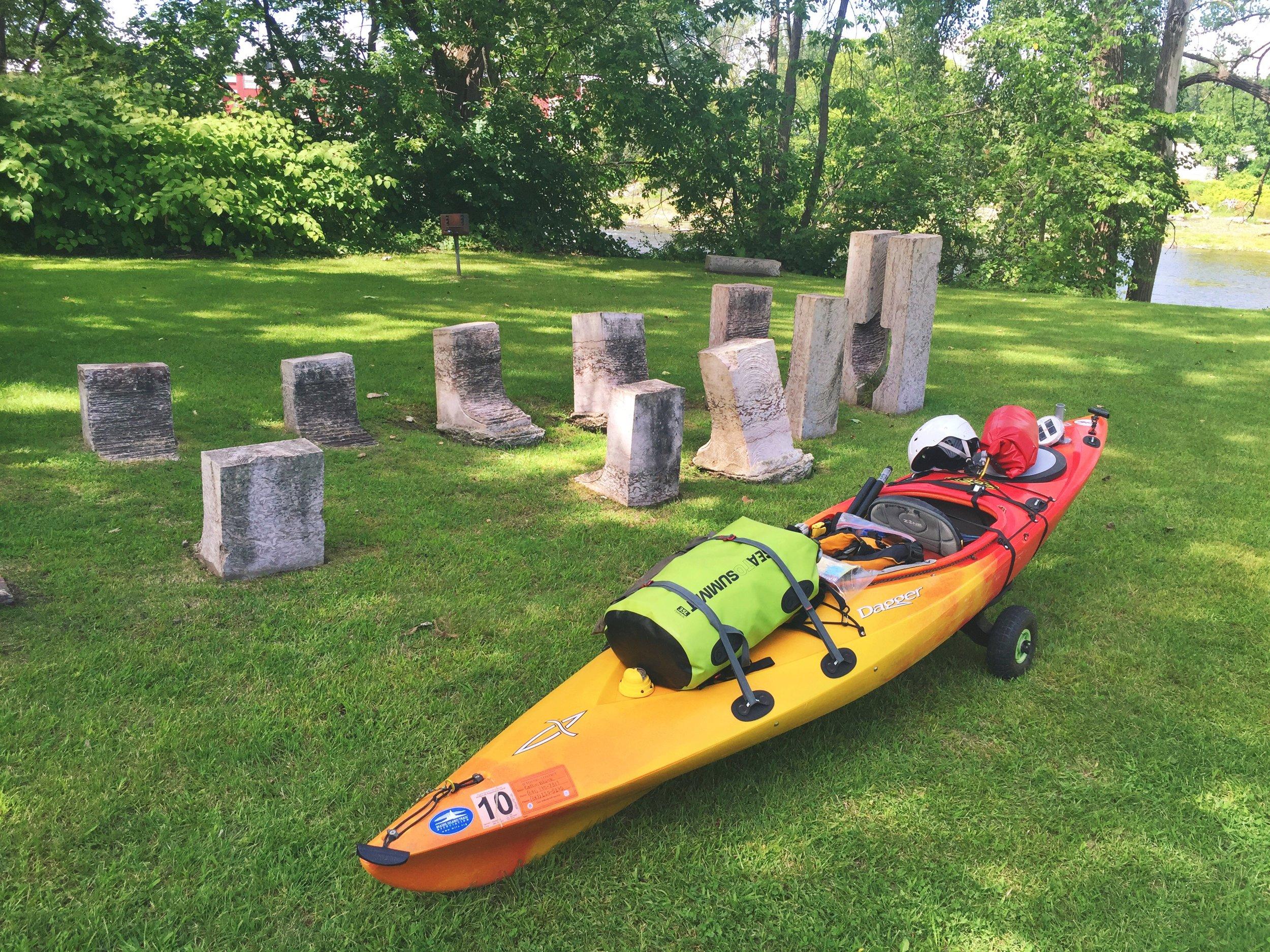 A stone monument to Abenaki Indian heritage in Swanton, VT