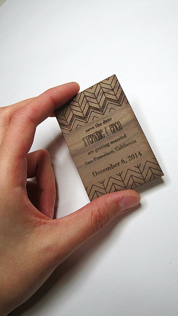 GrainDeep  customizable Wedding Magnet Invite