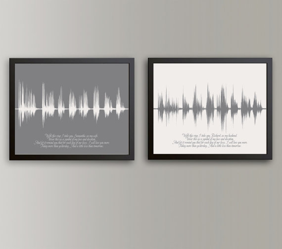 ArtsyVoiceprint  Wedding Vow Sound Wave Print
