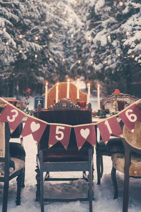 DreamWeddingBox  Gold Tipped Customizable Wedding Date Banner