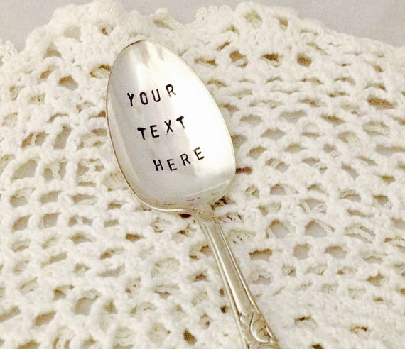 studiobytheshore  Customized Hand Stamped Spoon