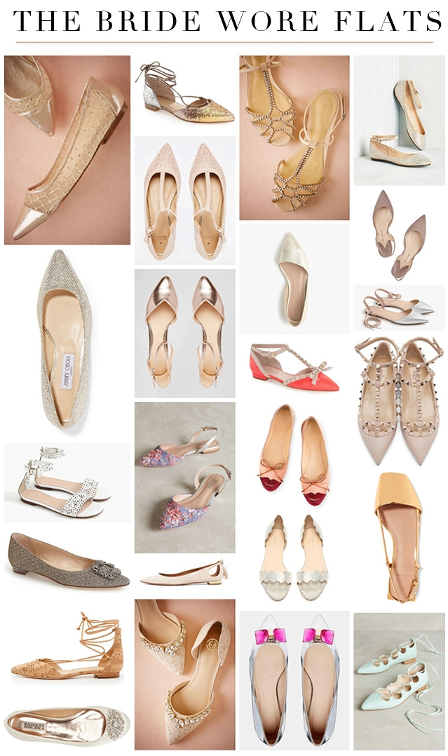 THE BRIDE WORE FLATS - SHOES YOU CAN