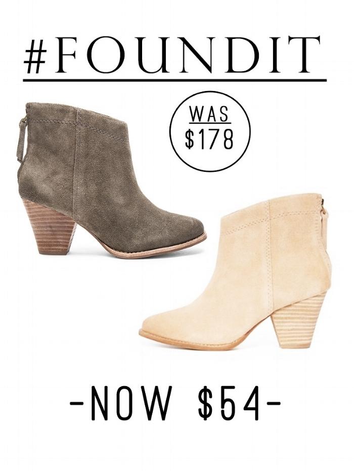 Shopbop Suede booties on sale!