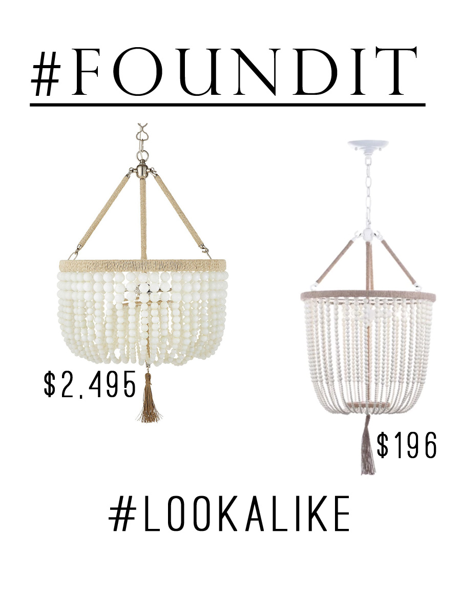 I've been looking for an affordable white milk-bead style chandelier forever! Bonus: it has a tassel!