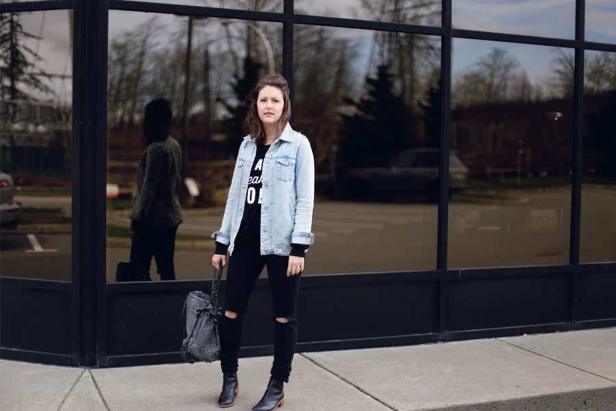 How to style a sweatshirt without looking sloppy. #wiw #ootd