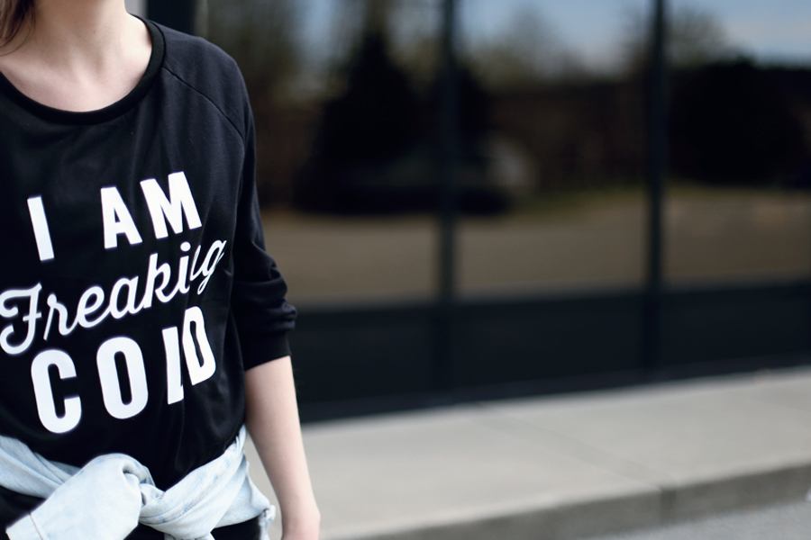 So funny! I am freaking cold shirt...and it's just $9!