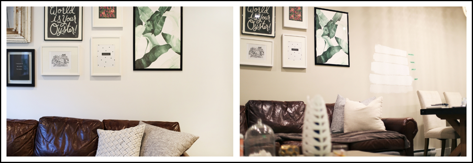 Love this before and after. The most perfect interior white paint.