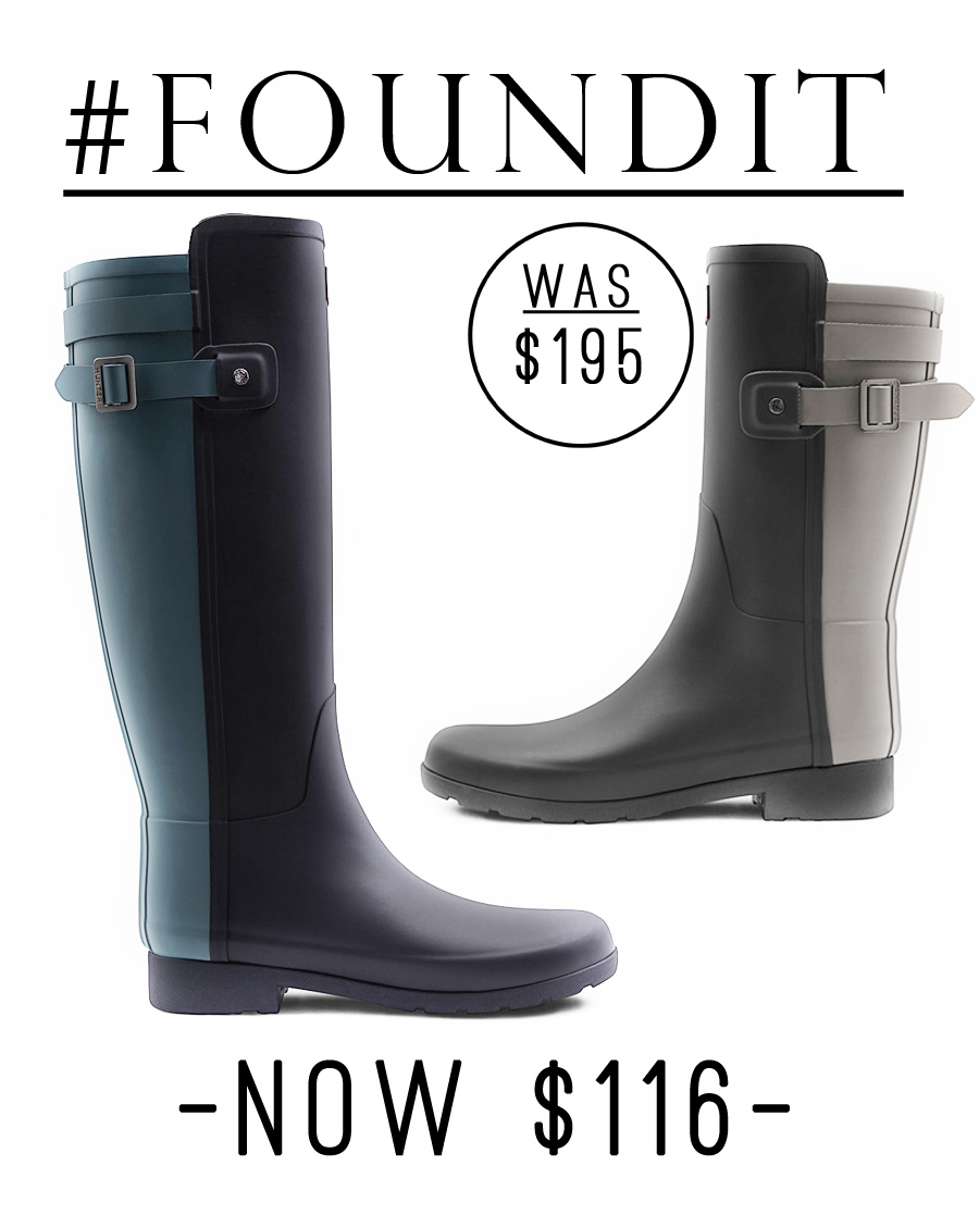 These Hunter rain boots are currently 40% off!