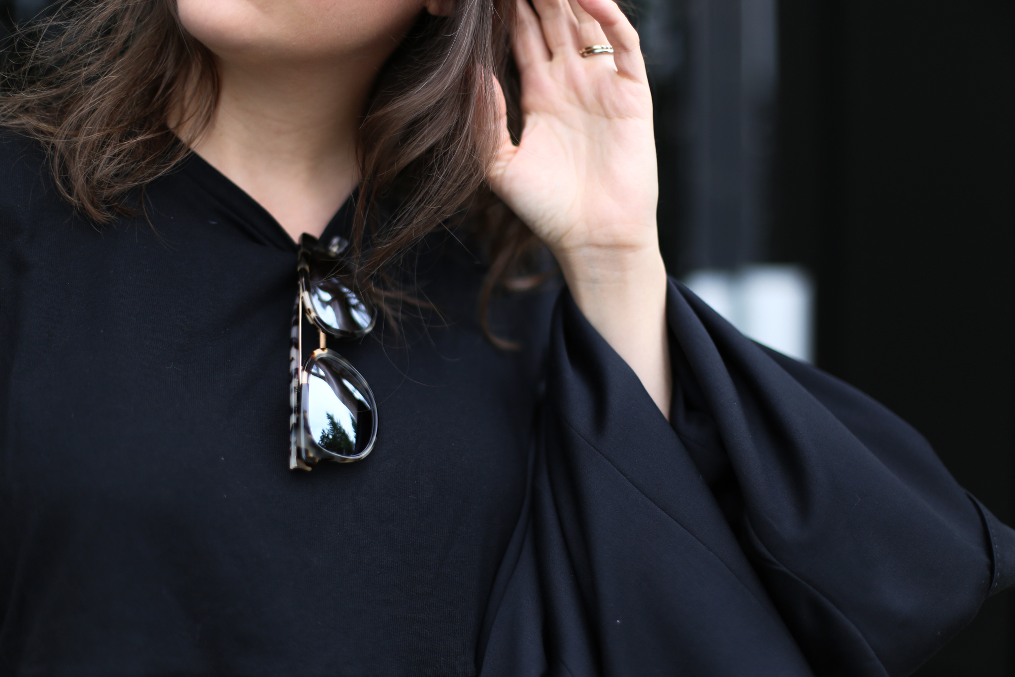 C4 x Susie Wall sunglasses. Can find these at Aritzia and Nordstrom.
