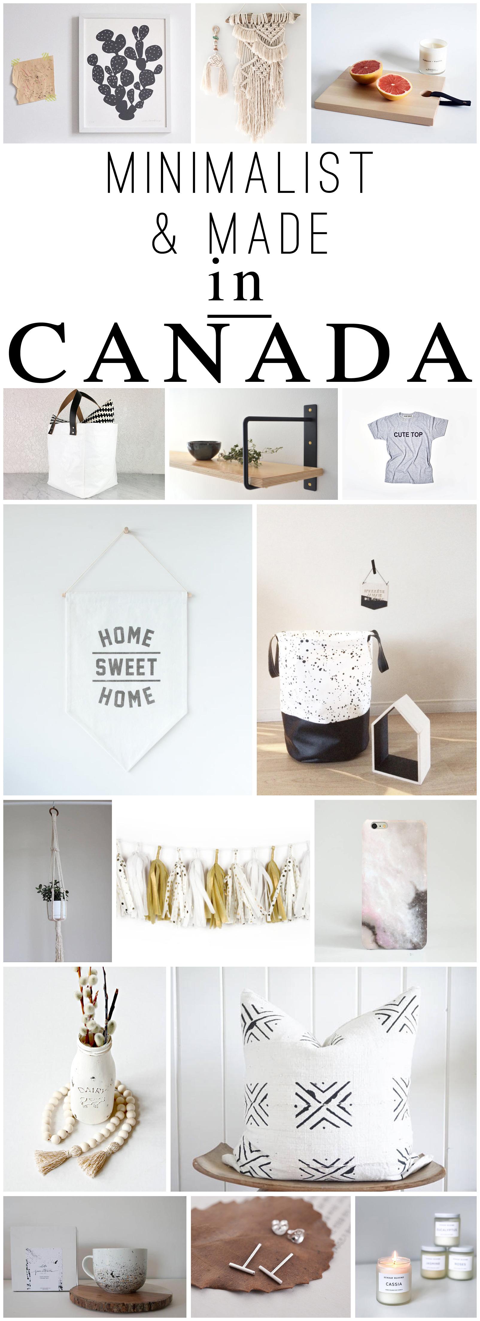 Etsy minimalist decor items: cactus print, macrame art, laundry bag, shelf, tissue paper tassels, pillows and more. #decor