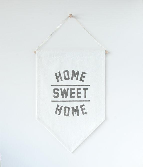 Home sweet home minimalist banner.